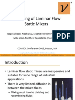 Modeling of Laminar Flow Static Mixers COMOL