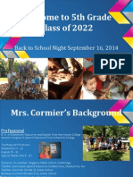 back to school night 2014