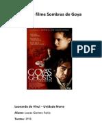 Análise Filme Sombras de Goya