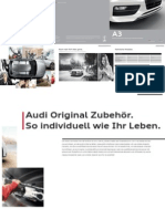 Audi A3, A3 Sportback and A3 Sedan Original Zubehör Catalogue (Germany)