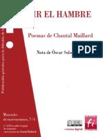 Decir El Hambre-Chantal Maillard