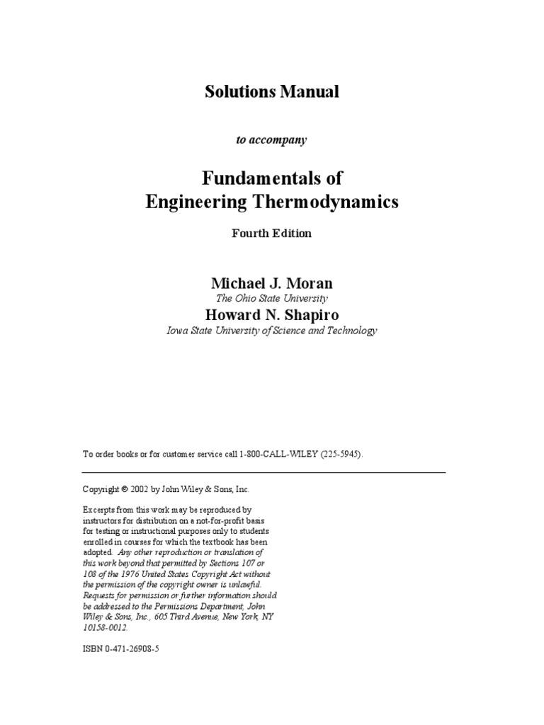 Pdf fundamentals of manual thermodynamics 7th edition solution
