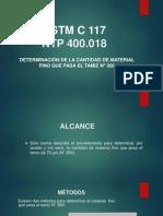 DIAPOSITIVAS TAMIZ N°2OO ASTM C 117