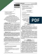 LEY 29239 Medidas de Control Sustancias Para Armas Químicas