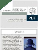 Implicaciones Eticas en La Investigacion