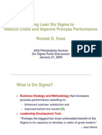 Jan 09 Six Sigma Lean Overview