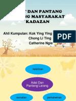 Adat Dan Pantang Larang Masyarakat Kadazan Newppt
