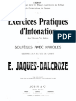 Jaques Dalcroze Solfejos