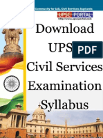 Download UPSC Civil Services Examination Syllabus Www.upscportal.com