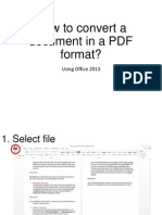 How to Convert a Document in PDF