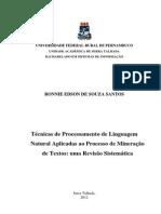 Técnicas de Processamento de Linguagem Natural Aplicadas Ao Processo de Mineração de Textos Uma Revisão Sistemática