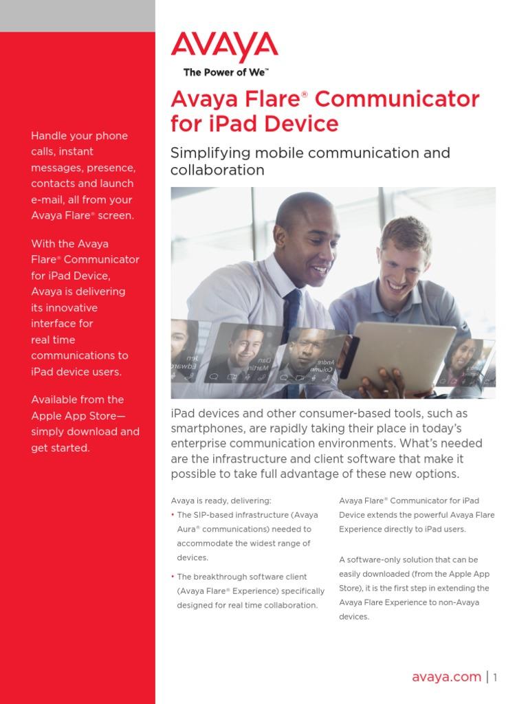 Avaya Flare Communicator for iPad Device (2) UC4798 | I Pad