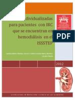 Dieta Individualizada Para Pacientes Que Se Encuentran en Hemodiális en El ISSSTEP