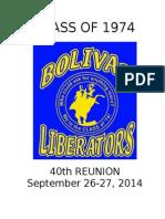 class of 1974 40th reunion book