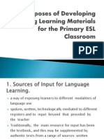 P1-Purposes of Developing Teaching Learning Materials