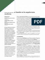 9. Estructuras de Bambu en La Arquitectura Moderna