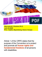 Hrba and Persons With Disabilities