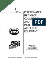 ANSI- ARI 850-2004