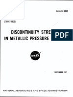 SP 8083 - Discontinuity Stresses in Metallic Pressure Vessels