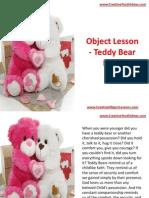 Object Lesson - Teddy Bear Faith
