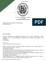 Art. 77crbv Solicitud Repart. Comuni. Concub.tsj Regiones - Decisión