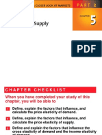 Elasticities of Demand & Supply