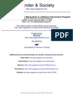 Schrock Padavic. 2007. Negotiating Hegemonic Masculinity in a Batterer Intervention Program (1)
