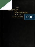 Iamblichos - Theurgia or Egyptian Mysteries