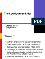 Lowdown on Lidar