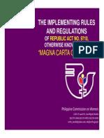 IRR Magna Carta of Women Presentation for Launch (1)