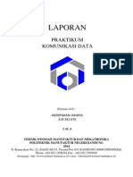 Praktikum Komunikasi data serial dan paralel