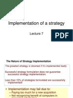 Implementing Strategies