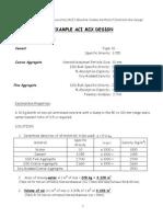 ACI Mix Design Method Example