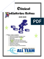 Clinical Pediatric Notes