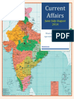 Current Affairs for BANK, SSC , UPSC, PO Exams June to August 2014