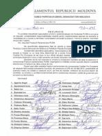 Declarația semnată de deputații PLDM