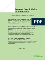 Pro Poor Economic Growth Models for South Africa by Oxfam