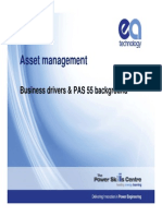 Business Drivers & PAS 55 Background