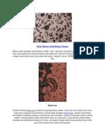 Batik Madura Motif Bunga Tarpote