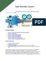 Lesson 1-7 Arduino