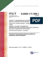 ITU PTP REC 8256.1
