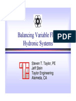 Balancing Variable Flow Systems Taylor