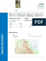 ERITREA, UNHCR Operation Fact Sheet June-July,2014