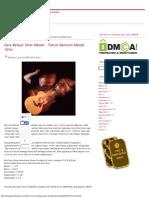 Cara Belajar Gitar Melodi - Teknik Bermain Melodi Gitar