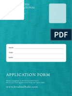 2014 2015 BIS Application Form