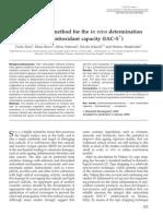 A Non-Invasive Method for the in Vivo Determination of Skin Antioxidant Capacity