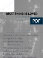 What Thing is Love by George Peele Poem Analysis Powerpoint Presentation