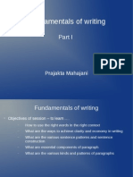Chapter 8 Fundamentals of Writing - Part I