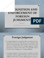 Recognition and Enforcement of Foreign Judgments