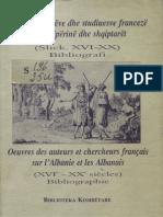 Bibliografi Autoret Francez Per Shqiperine XVI - XX